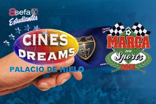 Más descuentos para abonados: Marca Sports Café y Cines Dreams