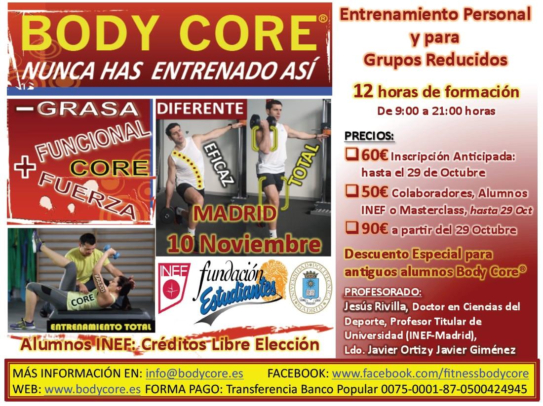 Seminario de Body Core® el 10 de noviembre