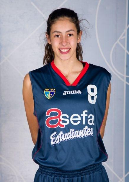María Conde y Carmen Grande, con la selección española U-16