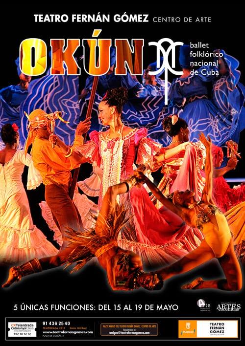Okún, por el  Ballet Folcklórico Nacional de Cuba, con descuento por ser abonado