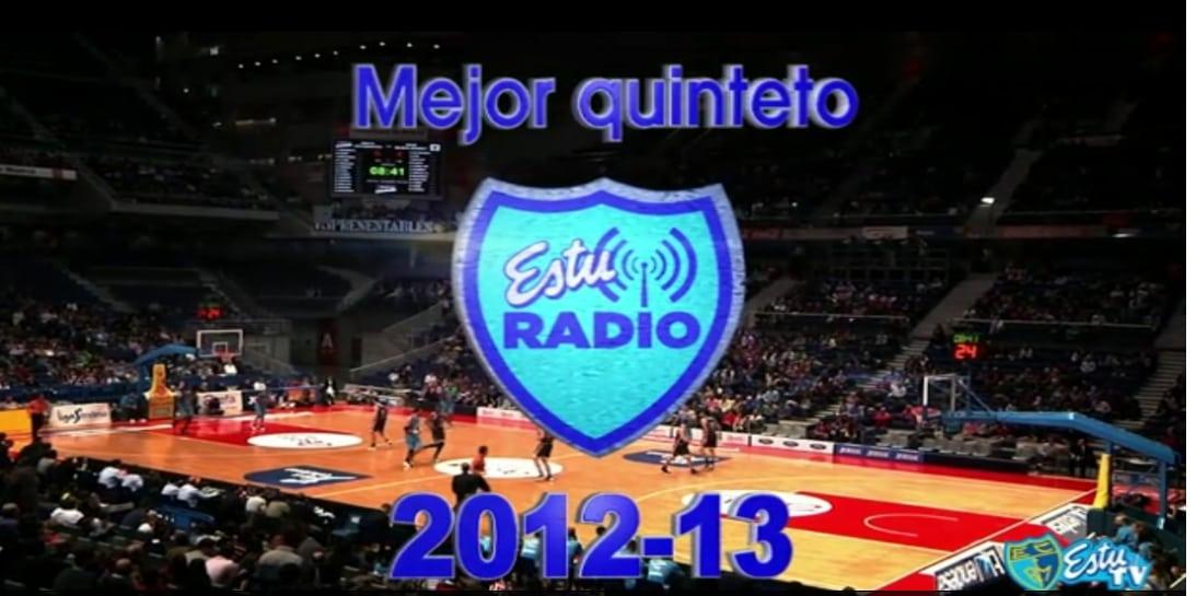 Mejor Quinteto EstuRadio 2012-13: Granger, De Alfredo, Kuric, Gabriel y Guerra.