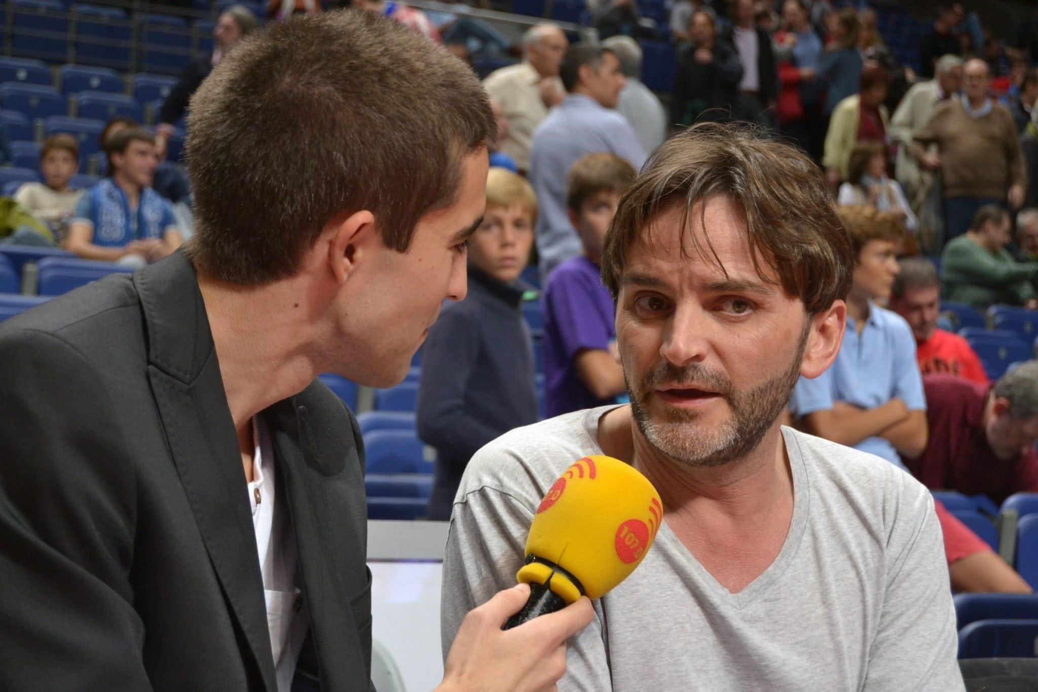 """Fernando Tejero en el Palco VIP de Libertad FM: """"Nunca había venido al baloncesto, me dan ganas de botar"""""""