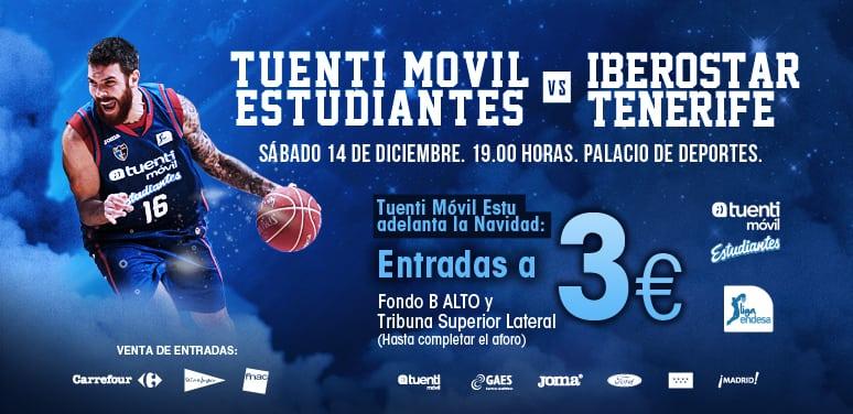 Tuenti Móvil Estudiantes se adelanta a la Navidad: el partido contra Iberostar Tenerife por ¡¡¡3 euros!!!