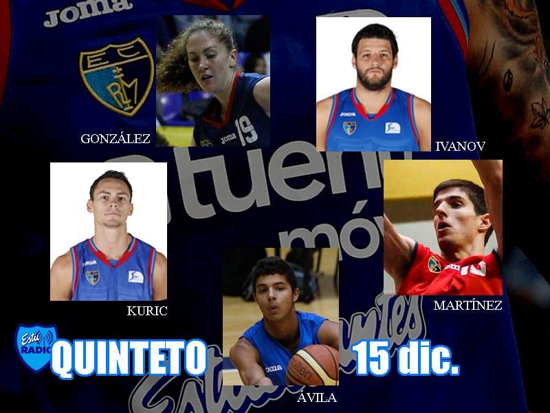 7º Quinteto EstuRadio: Ávila, Kuric, Martínez, Ivanov y González
