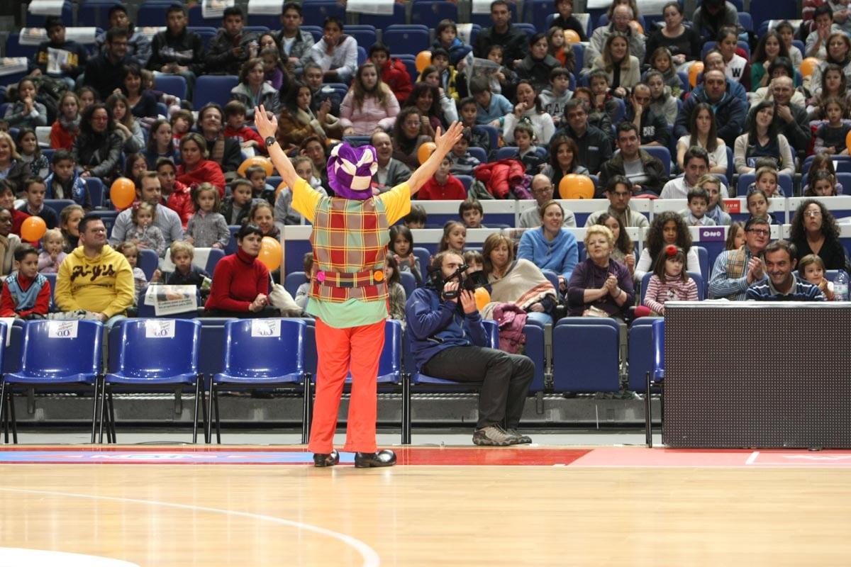 Así será la fiesta infantil previa al partido: desde las 17:30h circo, Reyes Magos, música, baile… y ¡baloncesto!