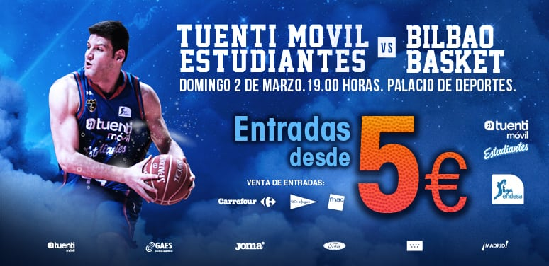 Tuenti Móvil Estudiantes- Bilbao Basket desde 5 euros