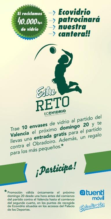Trae 10 vidrios contra Valencia Basket y llévate una entrada para Rio Natura Monbus