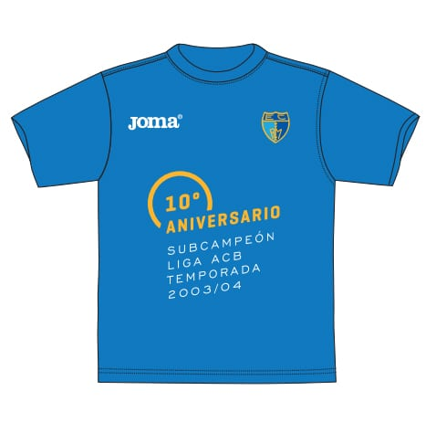 Camiseta 10º aniversario subcampeonato ACB de 2004