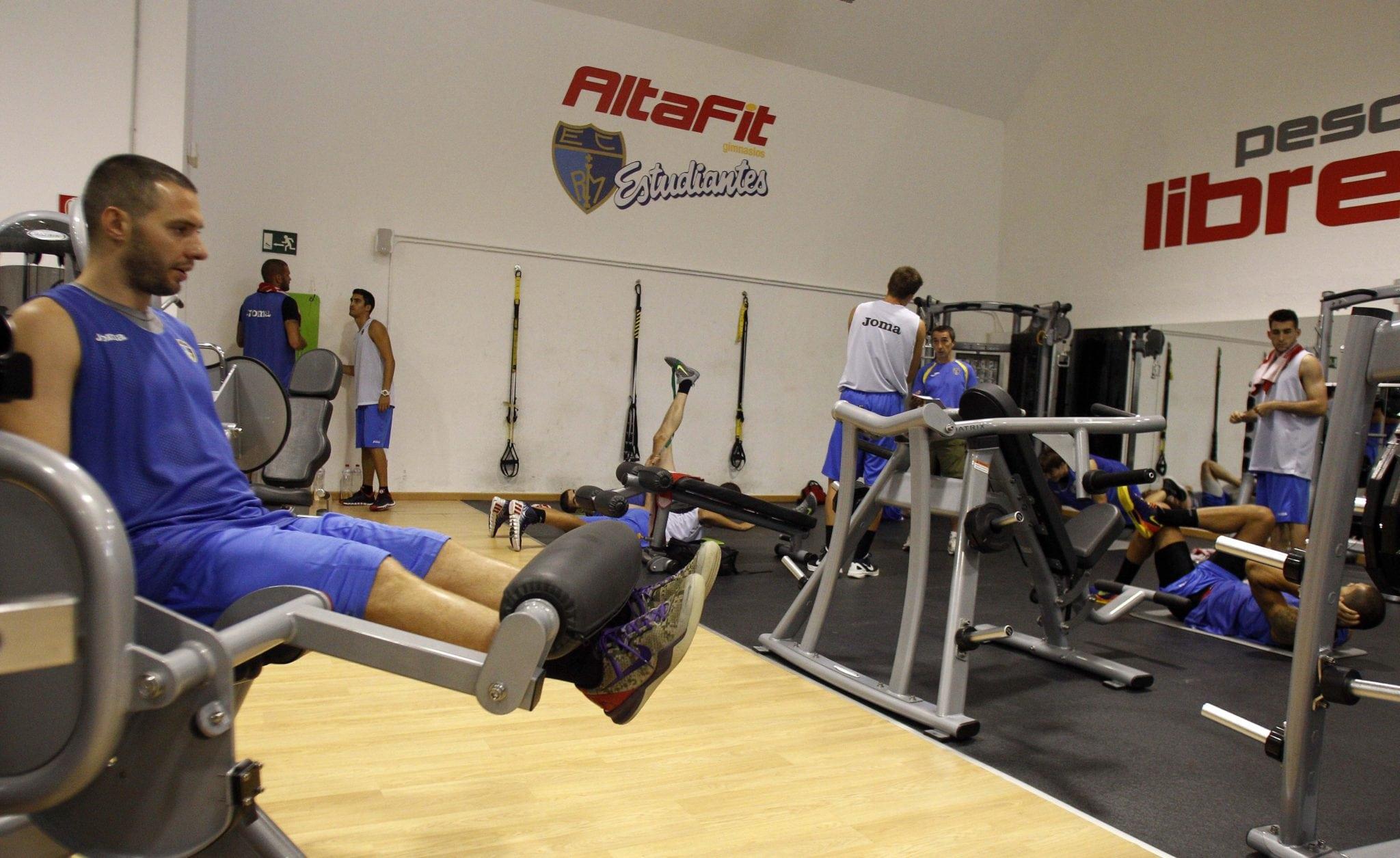 El gimnasio Altafit Estudiantes, nuevo escenario para los entrenamientos de pretemporada de Tuenti Móvil Estudiantes