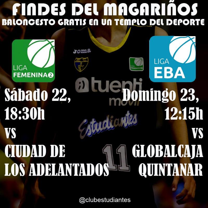 Los findes del Magariños: baloncesto gratis en un templo del deporte.  Sábado LF2 a las 18:30, domingo EBA a las 12:15h