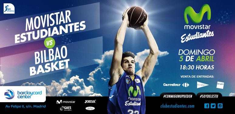 Entradas y descuentos Movistar Estudiantes- Dominion Bilbao Basket