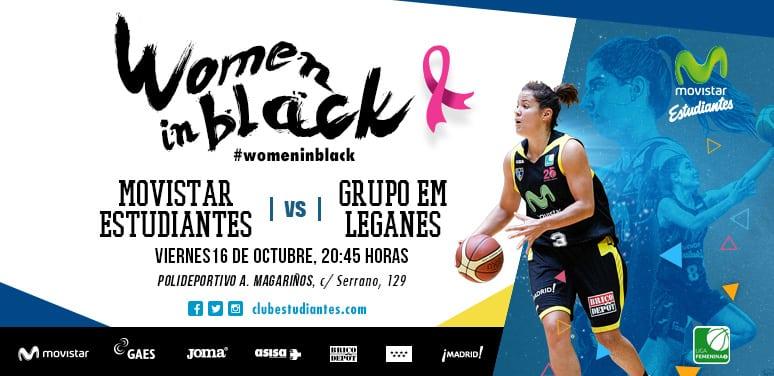 LF2: Derbi madrileño entre las Women in Black y el Grupo EM Leganés con fines solidarios (Viernes 20:45h, Polideportivo Antonio Magariños, EstuTV)
