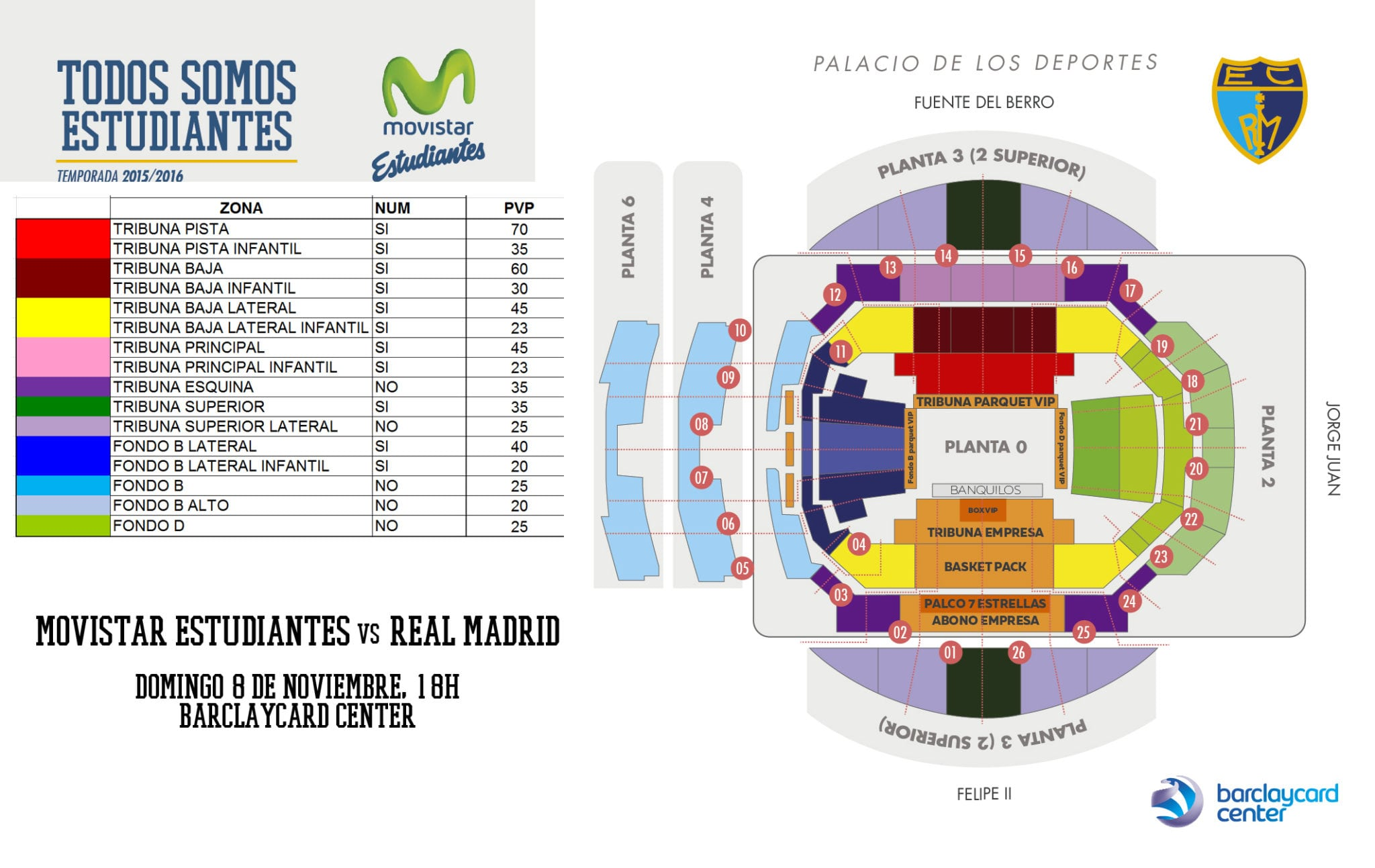 Entradas vs Real Madrid: de 20 a 70 euros