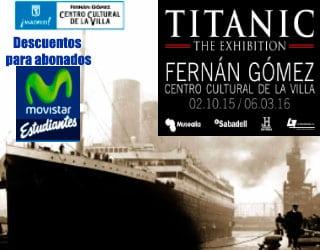 """Descuento en """"Titanic. The Exhibition"""" con tu abono de Movistar Estudiantes."""