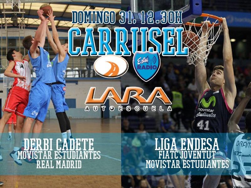 Día grande de cantera en EstuRadio: FIATC Joventut – Movistar Estudiantes y derbi cadete contra Real Madrid. Domingo 31, 12:30h