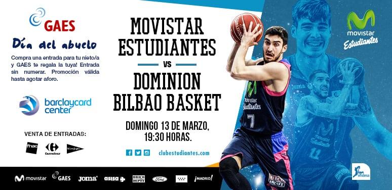 Entradas vs Dominion Bilbao. Promociones del Día del Abuelo con GAES