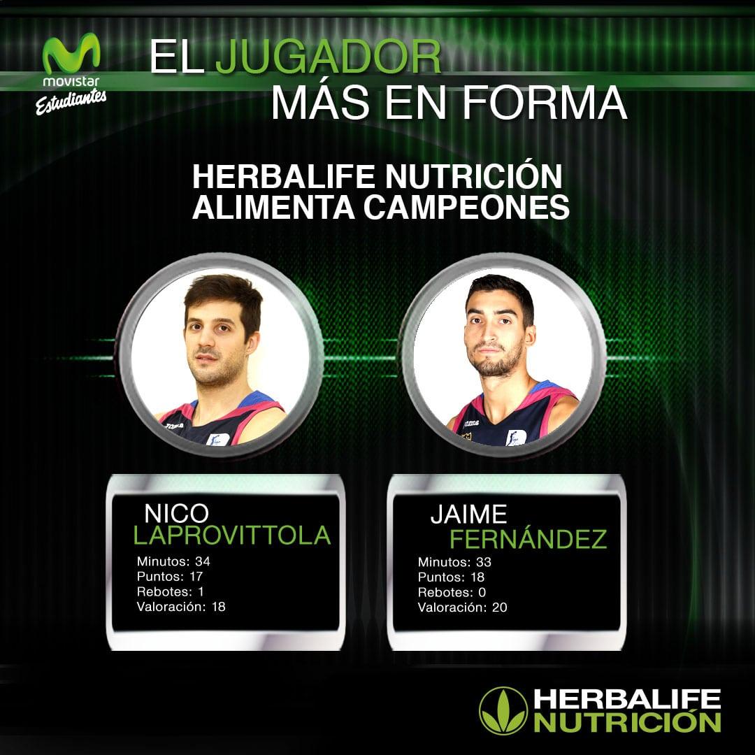 Herbalife presenta a los jugadores más en forma: Nico Laprovittola y Jaime Fernández