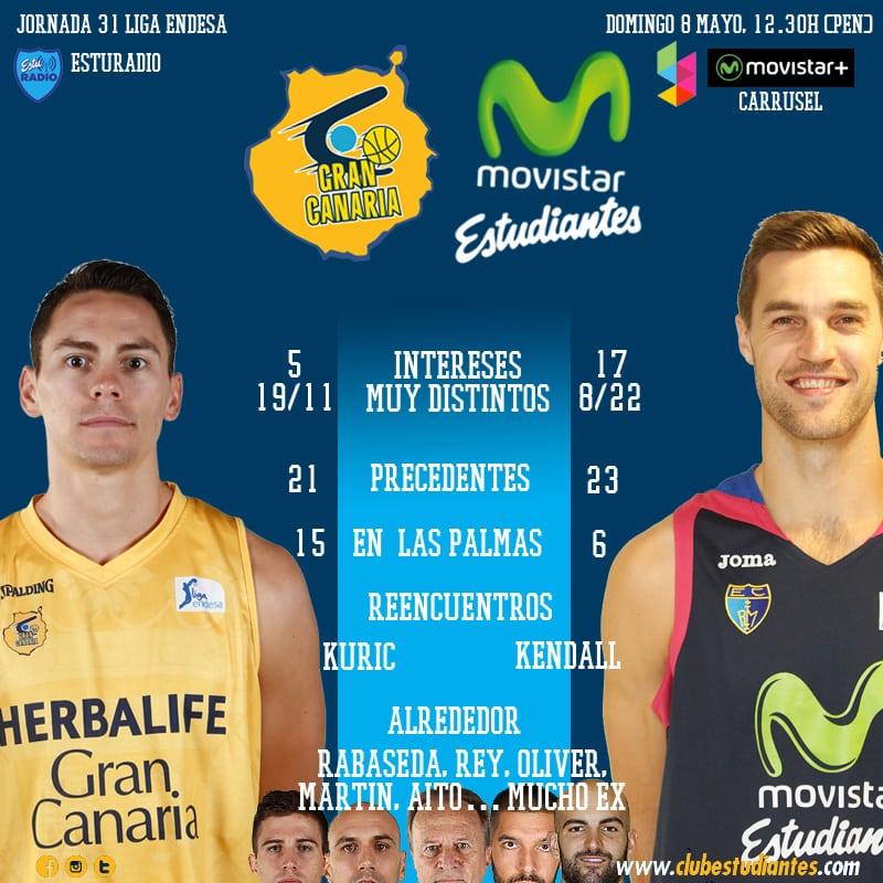 Herbalife Gran Canaria- Movistar Estudiantes: ni maldiciones, ni reencuentros, ni rachas. Sólo importa ganar (domingo 12:30h, Movistar +, Yomvi, EstuRadio)