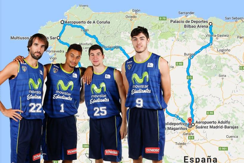 """La """"gira por el norte"""" de Movistar Estudiantes: 2000 kilómetros para jugar el viernes en Bilbao y el domingo en Santiago"""