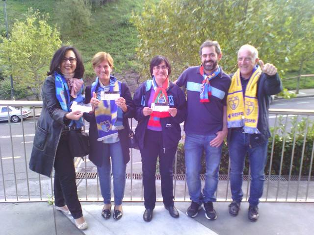 Así vibraron en Bilbao los ganadores del concurso de Movistar de entradas también para los partidos de fuera.
