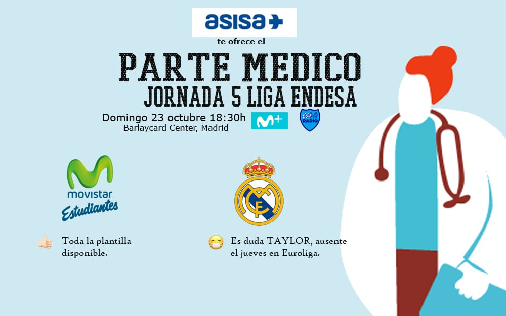 Asisa ofrece el parte médico del Movistar Estudiantes- Real Madrid CF