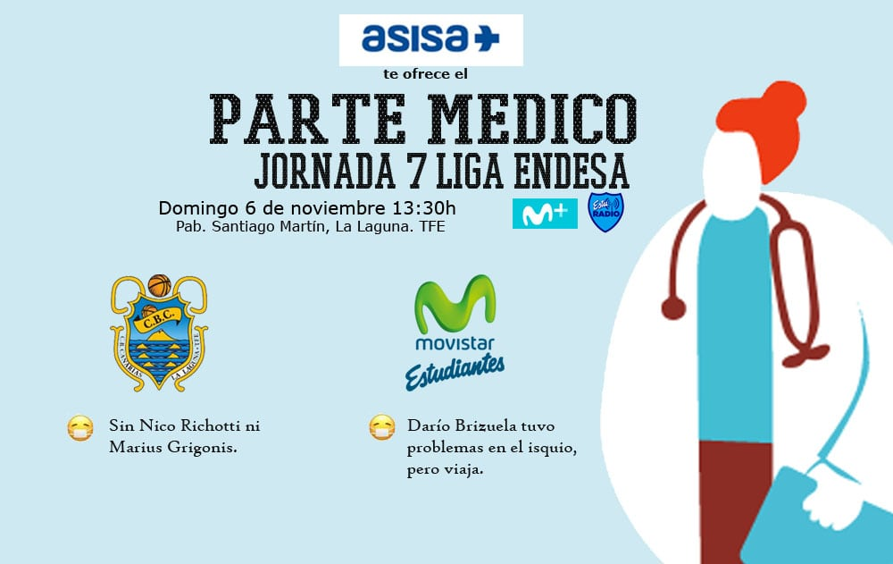 Asisa ofrece el parte médico del Iberostar Tenerife-  Movistar Estudiantes