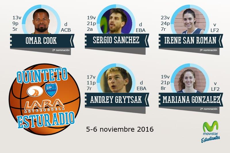 Cuarto Quinteto EstuRadio: Omar Cook, Sergio Sánchez, Irene San Román, Andrey Grytsak y Mariana Gónzalez