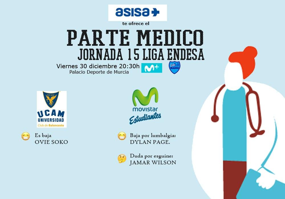 Asisa ofrece el parte médico del UCAM Murcia – Movistar Estudiantes