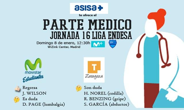Asisa ofrece el parte médico del Movistar Estudiantes- Tecnyconta Zaragoza