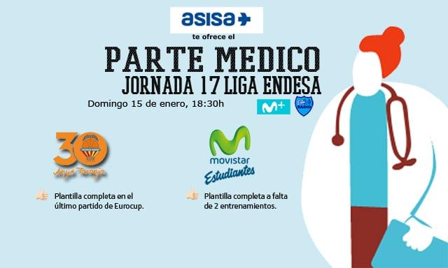 Asisa ofrece el parte médico del Valencia Basket- Movistar Estudiantes