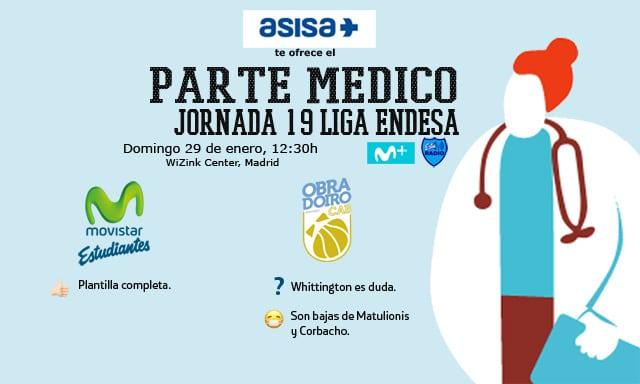 Asisa ofrece el parte médico del Movistar Estudiantes- Rio Natura Monbus Obradoiro
