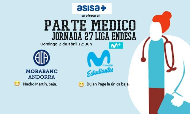 Asisa ofrece el parte médico del MoraBanc Andorra- Movistar Estudiantes