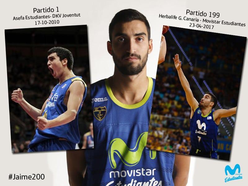 El capitán de Movistar Estudiantes, Jaime Fernández, cumple 200 partidos ACB en el derbi