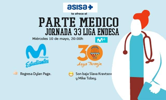 Asisa ofrece el parte médico del Movistar Estudiantes- Valencia Basket: vuelve Page