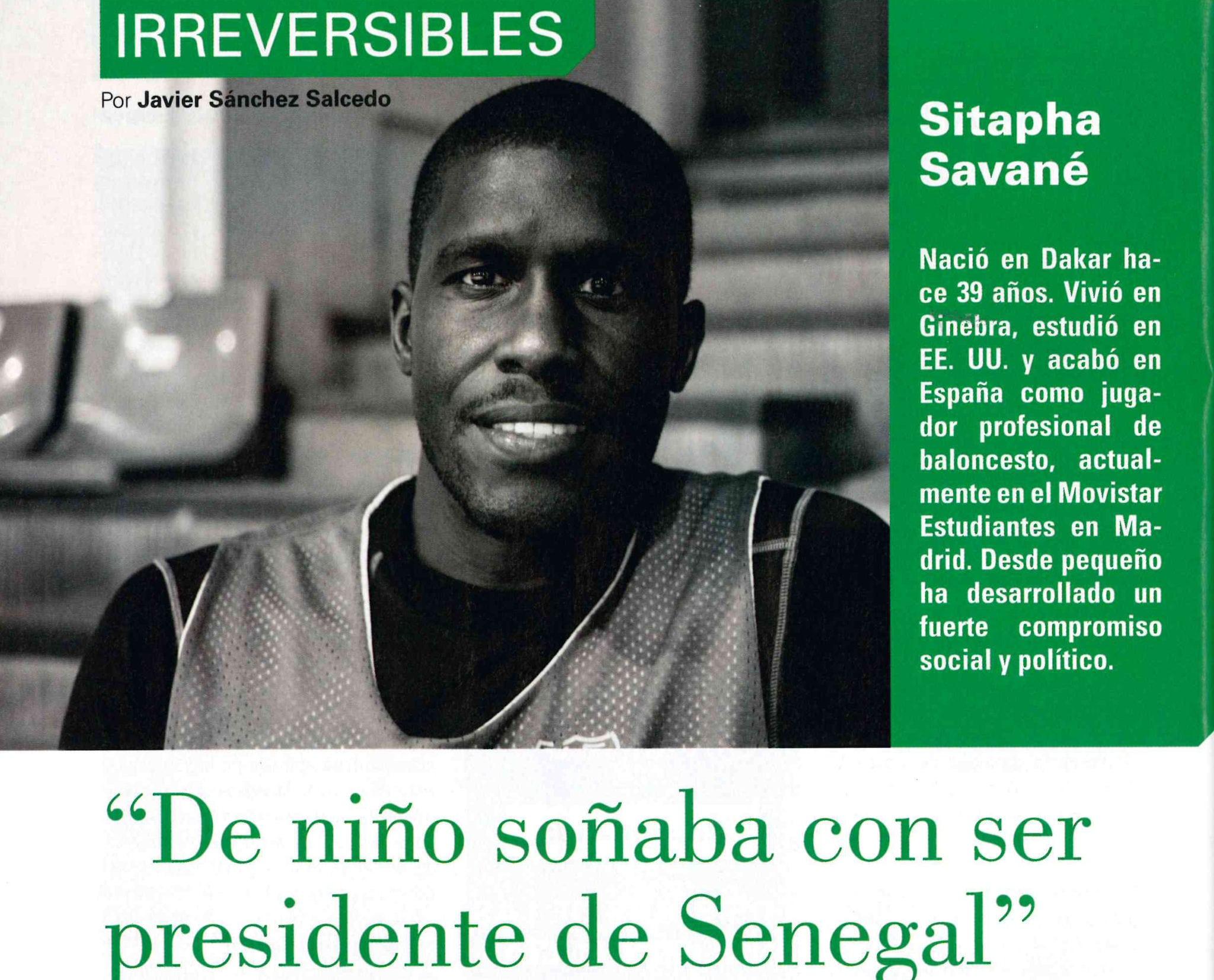 "Sitapha Savané en ""Mundo Negro"""