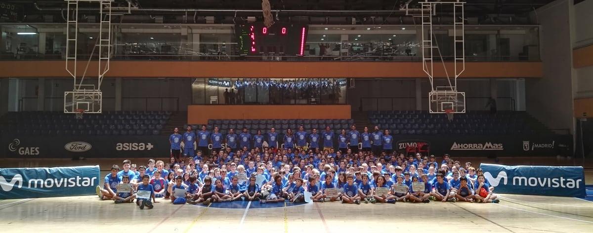 Cuarta semana del Campus Movistar Estudiantes en Magariños con reto a los entrenadores