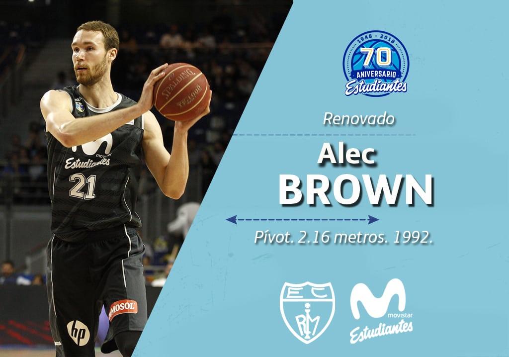 Alec Brown, en Movistar Estudiantes para la 2017-18