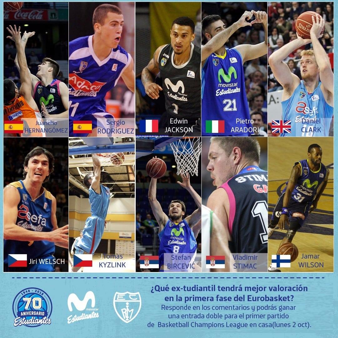 """Bases del concurso de Instagram """"Extudiantiles en el #Eurobasket2017"""""""