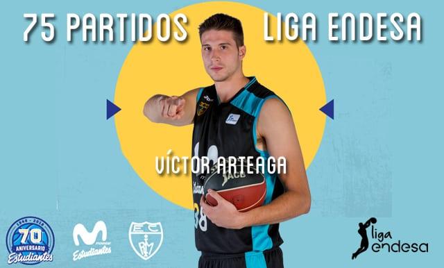 75 partidos en Liga Endesa para Víctor Arteaga