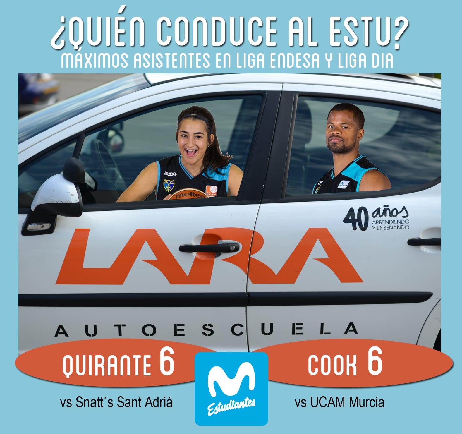Conductores Autoescuela Lara: Cook y Quirante, los máximos asistentes