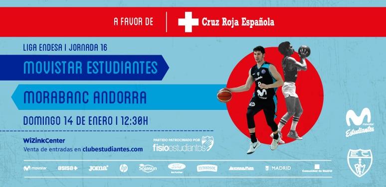 Movistar Estudiantes- Morabanc Andorra, domingo 14 de enero 12:30h