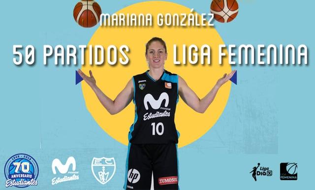 Mariana González cumplió 50 partidos en Liga Día Femenina, todos con Movistar Estudiantes