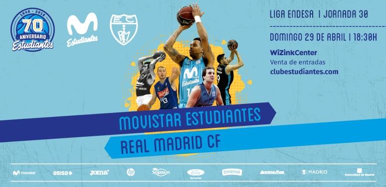 Últimas 150 entradas para el derbi Movistar Estudiantes- Real Madrid CF