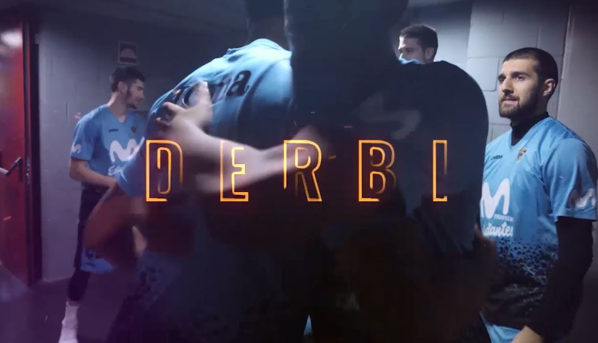 DERBI . La película de acción del clásico del basket madrileño Movistar Estudiantes- Real Madrid CF
