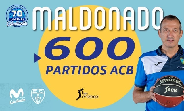 Salva Maldonado alcanzará los 600 partidos en ACB, ¡solo le superan en activo Pedro Martínez y Luis Casimiro!