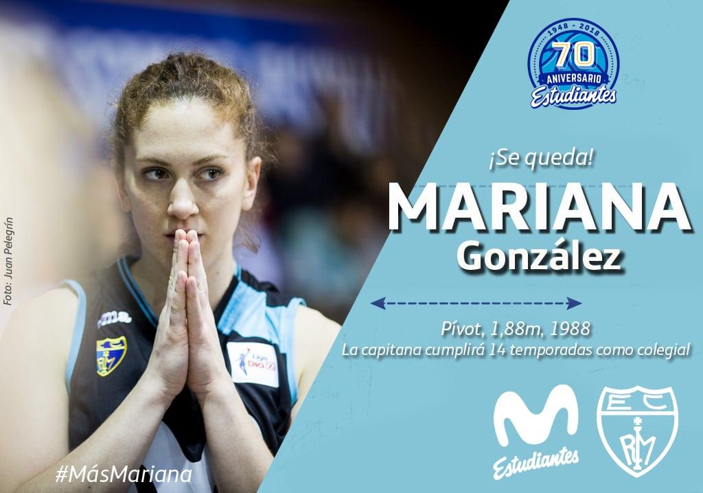 ¡Sigue Mariana González! La capitana de Movistar Estudiantes cumplirá 14 temporadas en el club