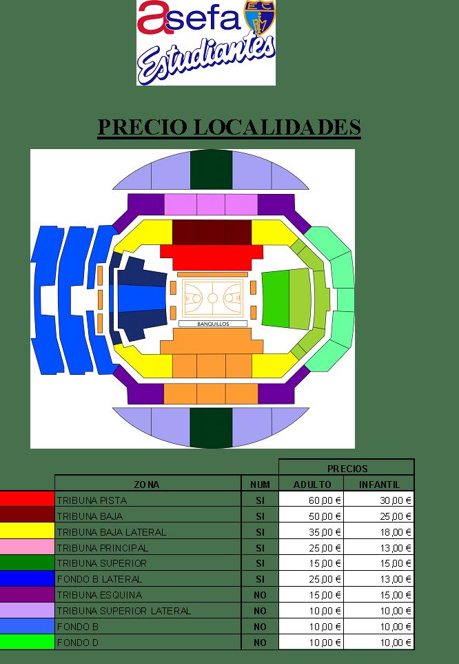 Precios de entradas generales para el partido contra FIATC Joventut