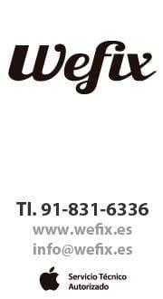 Wefix: servicio técnico autorizado de Apple en Madrid