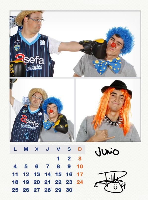El Calendario Solidario 2012 de la Fundación muestra la cara más divertida de la plantilla