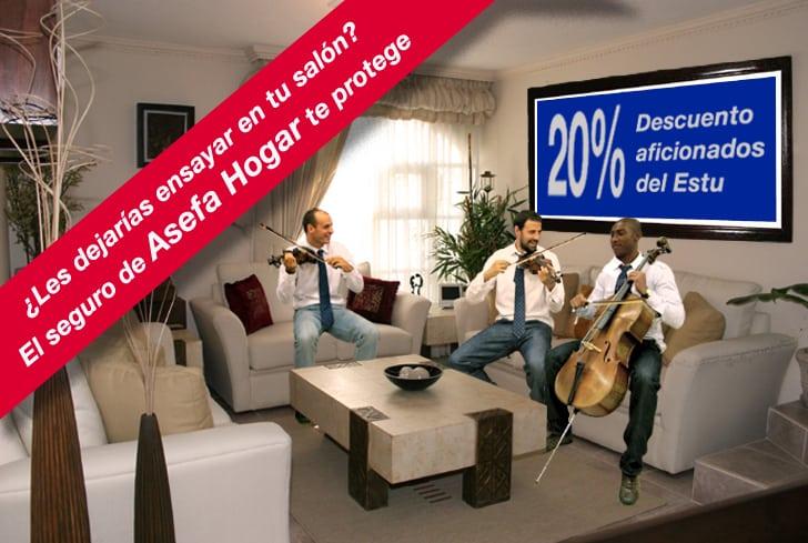 20% en el seguro Asefa Hogar para que te preocupes sólo de animar al Asefa Estu